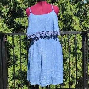 FLYING TOMATO blue strappy boho dress